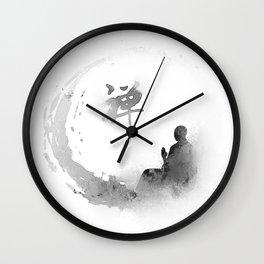 buddha and moon Wall Clock