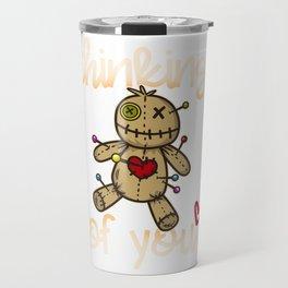 Thinking of you I Wicca Voodoo Doll I Scary Karma  product Travel Mug