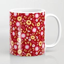 Autumn floral - red Coffee Mug