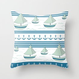 Sea lovers Throw Pillow