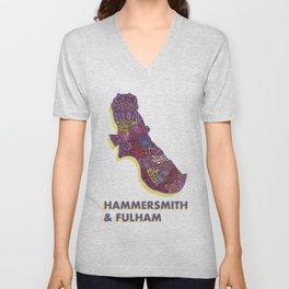 Hammersmith & Fulham - London Borough - Colour Unisex V-Neck