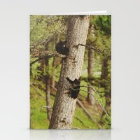 climbing Stationery Cards featuring Climbing Cubs by Kevin Russ