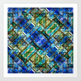 Blue Bywater Art Print