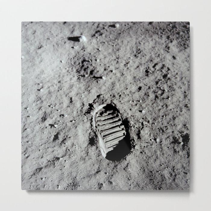 Apollo 11 - First Footprint On The Moon Metal Print