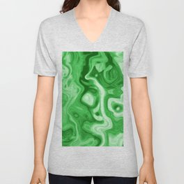 malachite natural rock abstract Unisex V-Neck