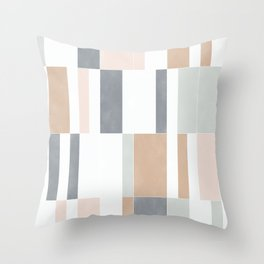 Muted Pastel Tiles 01 Throw Pillow