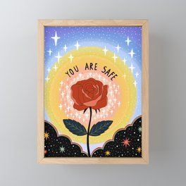 You are safe Framed Mini Art Print