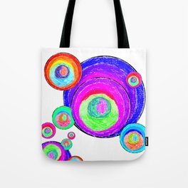 Colorful Secret Geometry | painting by Elisavet #society6 Tote Bag