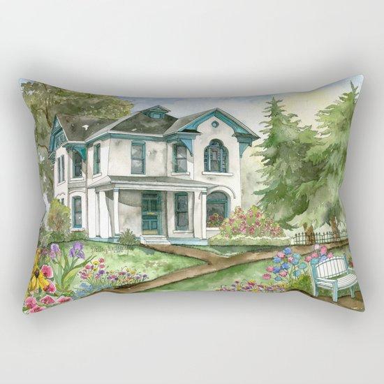 Garden House Rectangular Pillow