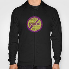 Roller Derby Don't be a Douchebag purple Hoody