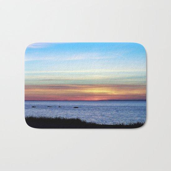 Sunset in the Clouds Bath Mat