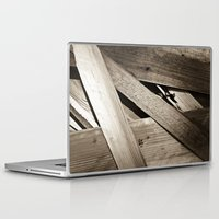 wooden Laptop & iPad Skins featuring Wooden Layers by mark jones