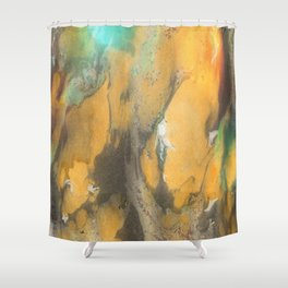 Marbled Ink - Autumn Colors Shower Curtain