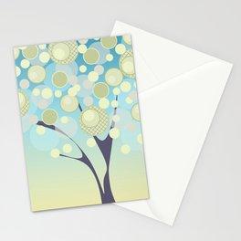 Good morning cartoon modern tree circles round dots Stationery Cards