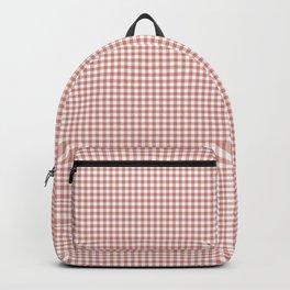 Terracotta gingham check Backpack