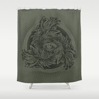 warcraft Shower Curtains featuring Storm of Swords by Plan 9 Design