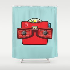 #42 Viewmaster Shower Curtain