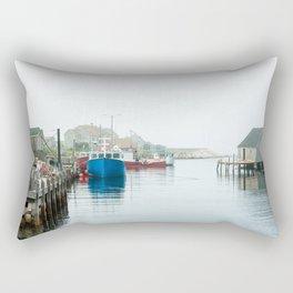 Peggy's Cove fishing village. Rectangular Pillow