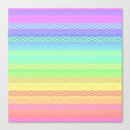 Freedom (pastel rainbow) Canvas Print