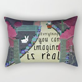 Everything you can imagine is real 6 Rectangular Pillow