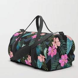 Island Goddess Tropical Black Duffle Bag