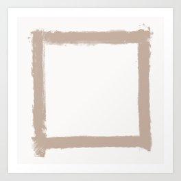 Square Strokes Nude on White Art Print