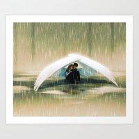 wings Art Prints featuring Wings by Emmy Cicierega