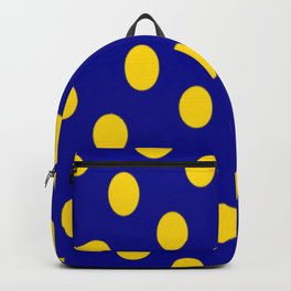 yellow spots blue polka dots Backpack