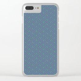 Purple Lime Sayagata Pattern - Auspicious Sacred Geometry Clear iPhone Case