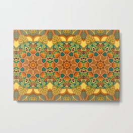 African Floral Pattern 3A Metal Print
