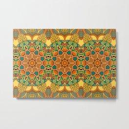 African Floral Pattern 3A Metal Print