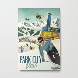 Sundance Ski Poster Metal Print