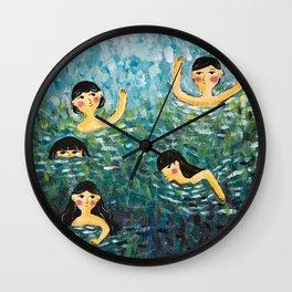 Summer Play Wall Clock