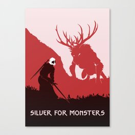 Silver For Monsters Remastered Canvas Print