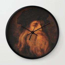 Leonardo Da Vinci portrait Wall Clock