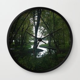 The River in the Forest Wall Clock