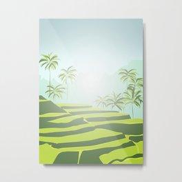 Tegalalang Rice Terraces, Bali, Indonesia Metal Print