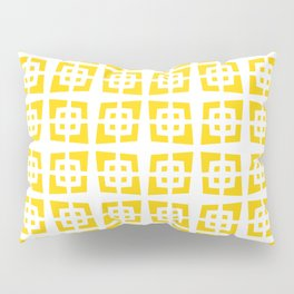 Mid Century Modern Pattern 271 Yellow Pillow Sham