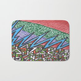 gut wrenching twist Bath Mat