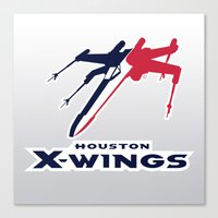 nfl Canvas Prints featuring Houston X-wings - NFL by Steven Klock