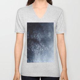 Blue veiled moon Unisex V-Neck