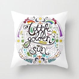 Little Golden Sun Throw Pillow