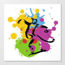 Abstract skater Canvas Print