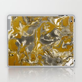 Brown and grey Marble texture acrylic Liquid paint art Laptop & iPad Skin