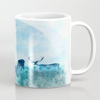 twilight Mugs featuring Twilight by Lynette Sherrard Illustration and Design