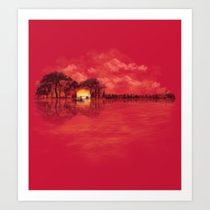 Musical Sunset Art Print