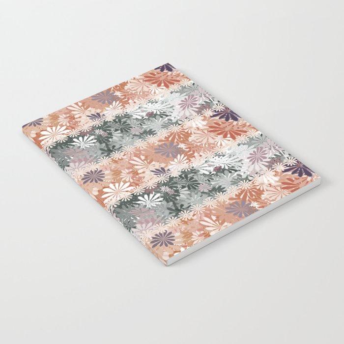 Floral Stripes Notebook
