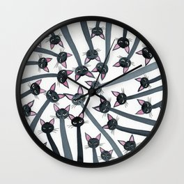 Barmuda Whimsical Cats Wall Clock