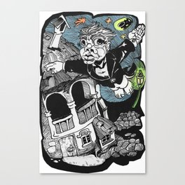 One of those flying dreams Canvas Print