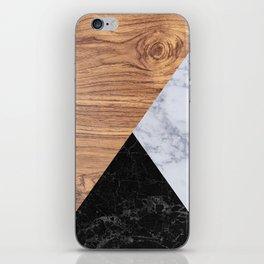 Marble Granite Wood iPhone Skin